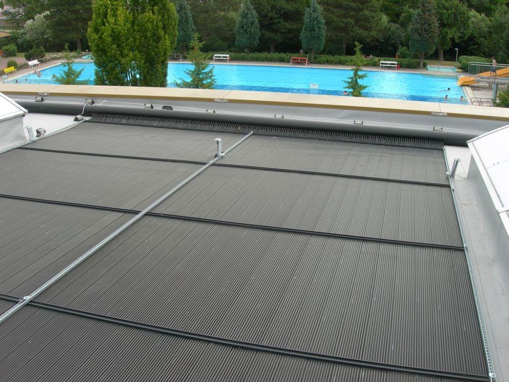 Solar heating open air swimming pool - AST Eis- und Solartechnik GmbH